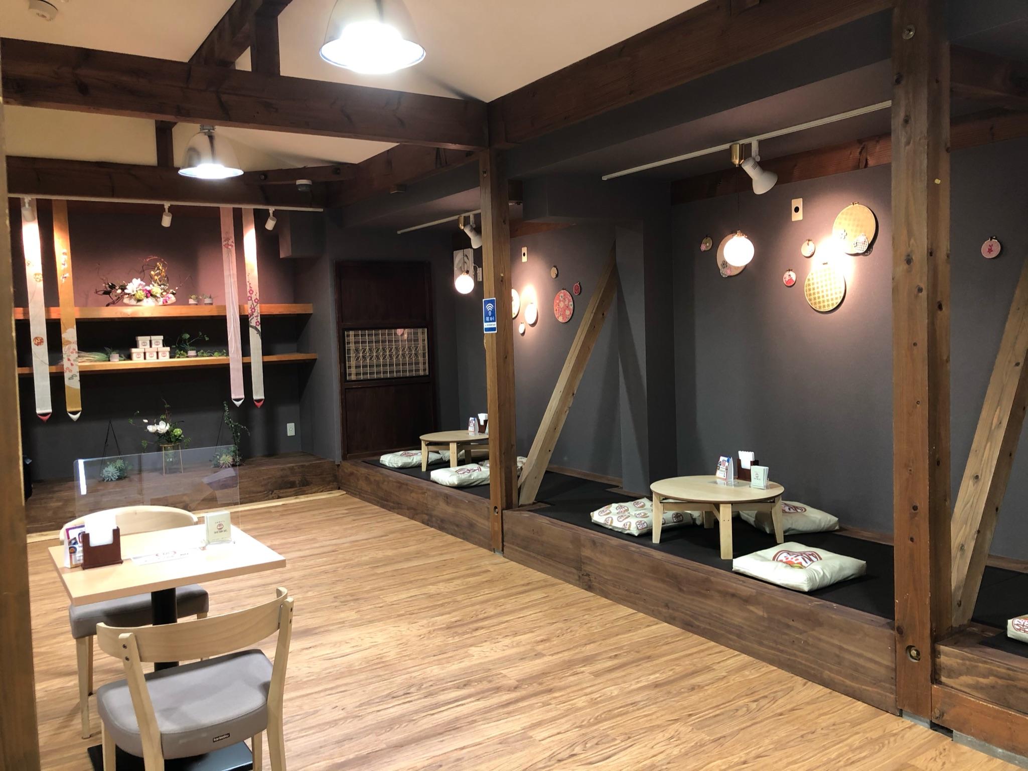 日本茶カフェ,OEM,店舗デザイン,店舗内装,オリジナル商品,和モダン